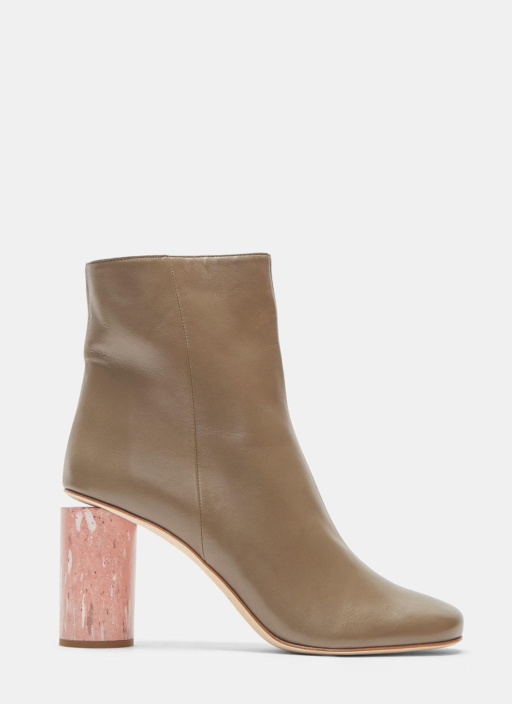 Acne Althea Marble Cylinder Heeled Boots vKr9N