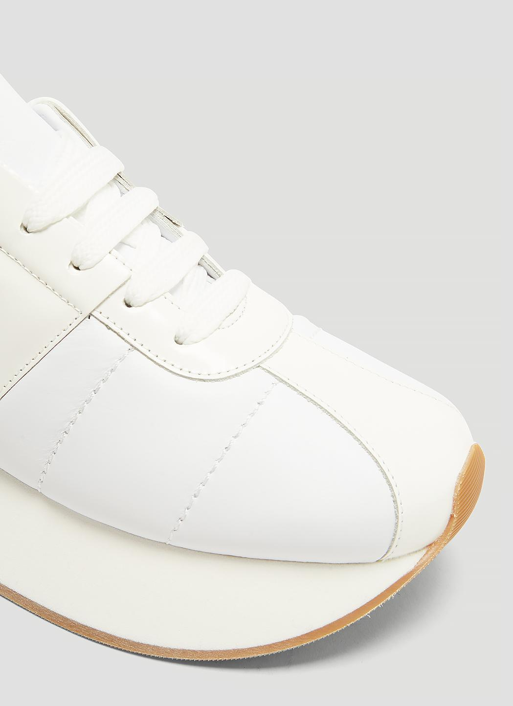e7d50193b14 Lyst - Marni Leather Platform Sneakers In White in White