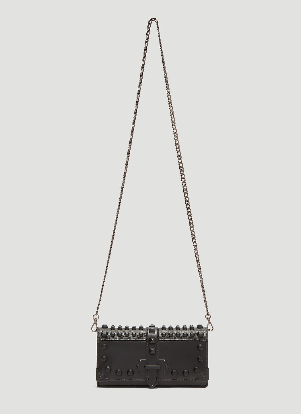 ab224dc70338 Prada Cahier Shoulder Bag In Black in Black - Lyst