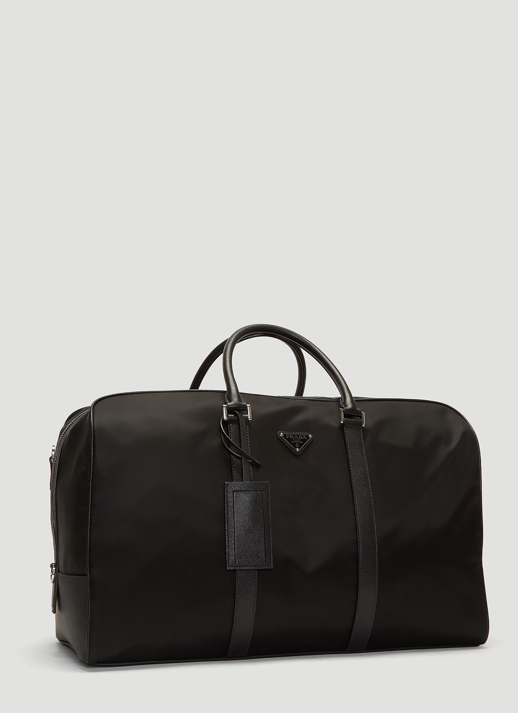 b6c9c2bd511f Prada - Black Nylon And Saffiano Leather Duffle Bag for Men - Lyst. View  fullscreen
