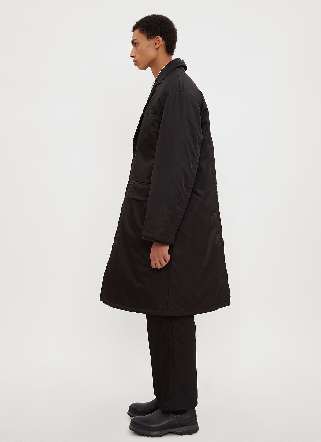 In Lyst for Layer Coat Black in Nylon Men Double Black Prada rXPzXcA