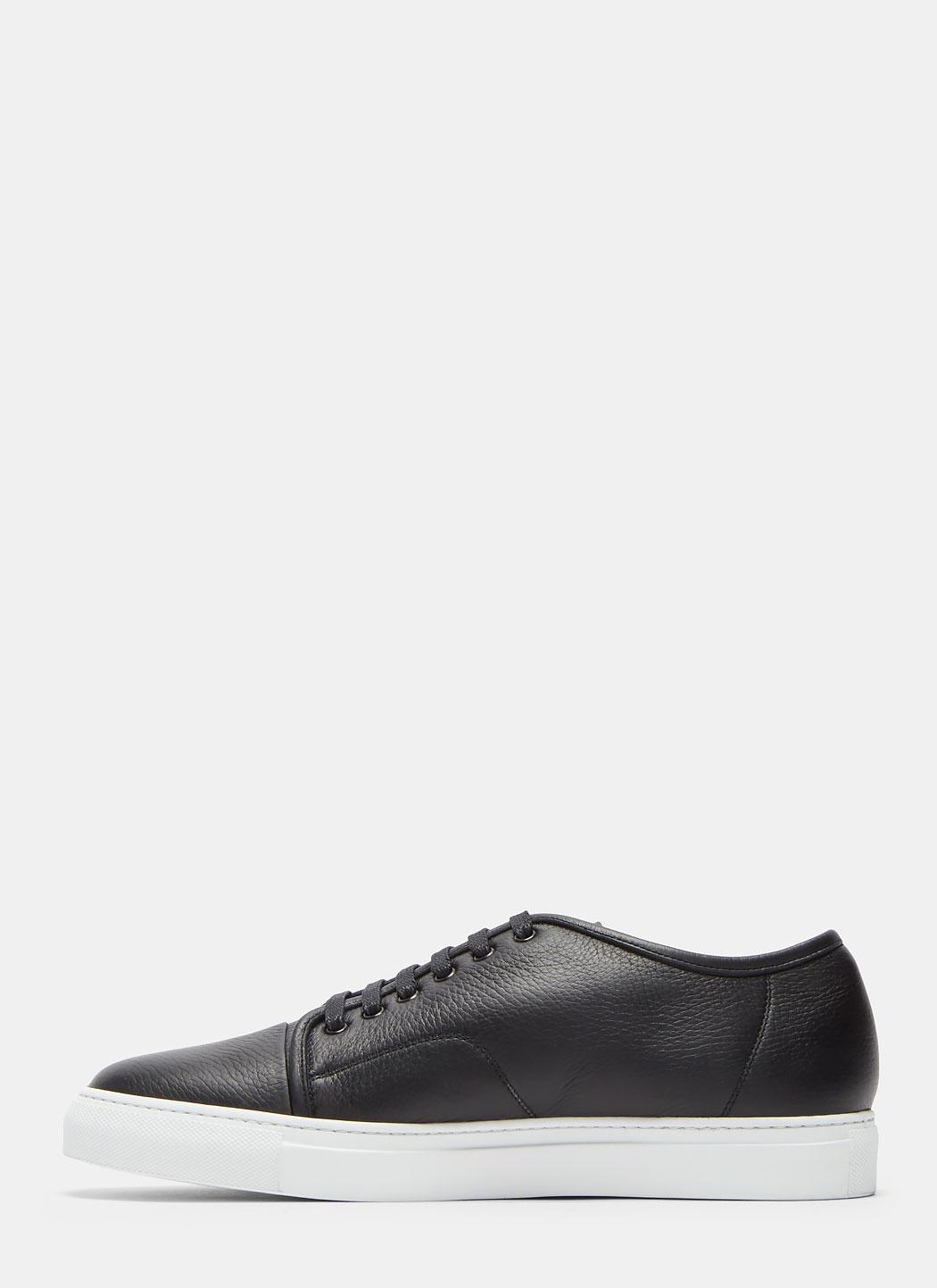 Low-Top Grained Leather Sneakers Aiezen VPip5ElfTC