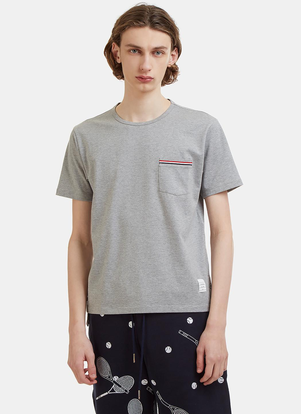 Lyst thom browne patch pocket cotton jersey t shirt in for Thom browne shirt sale