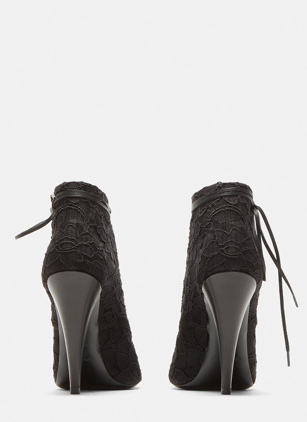 Saint Laurent Pointed Toe Louise Lace-up Ankle Boots GxVQc4hsM