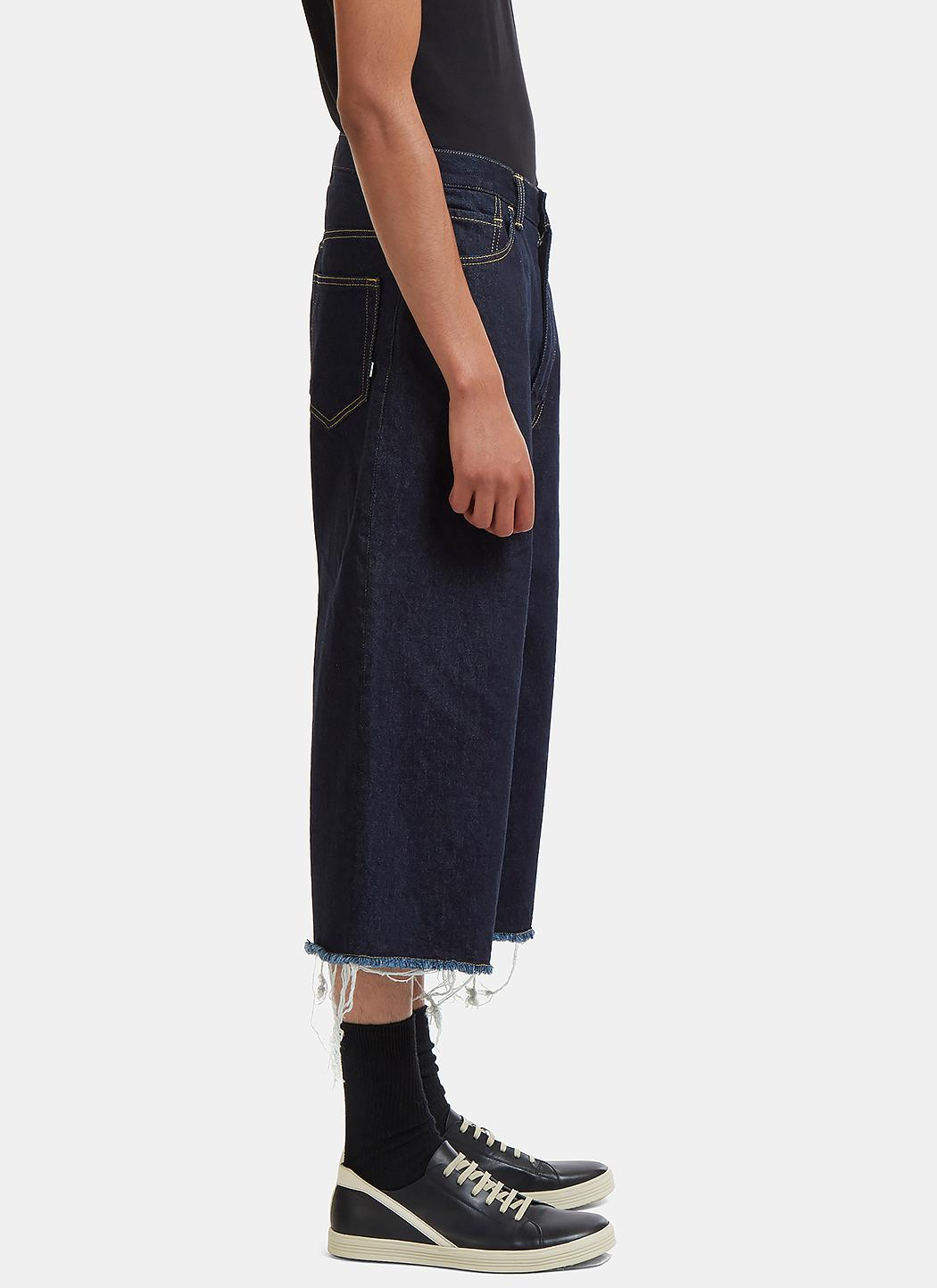 Cheap Many Kinds Of Oversized Raw-Cut Cropped Jeans Facetasm Release Dates Authentic Fake Cheap Online Low Price Fee Shipping Online YqdihA8