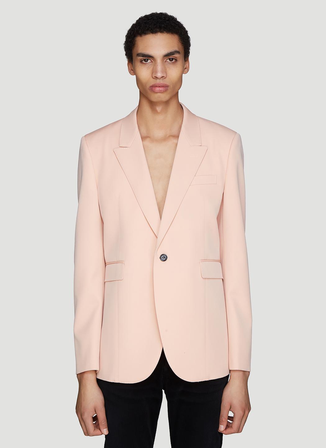1f8626c7efc Saint Laurent Pink Slim-fit Virgin Wool Blazer in Pink for Men ...