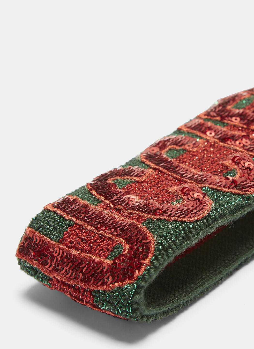 4f8b9dff161 Gucci - Fication Sequinned Headband In Red And Green - Lyst. View fullscreen