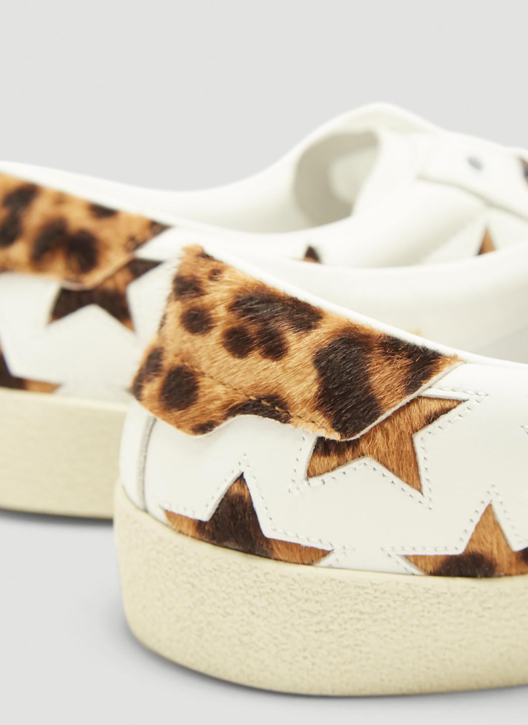 7e69e9e47293 Saint Laurent Sl/06 Cheetah Star Court Classic Sneaker In White in ...