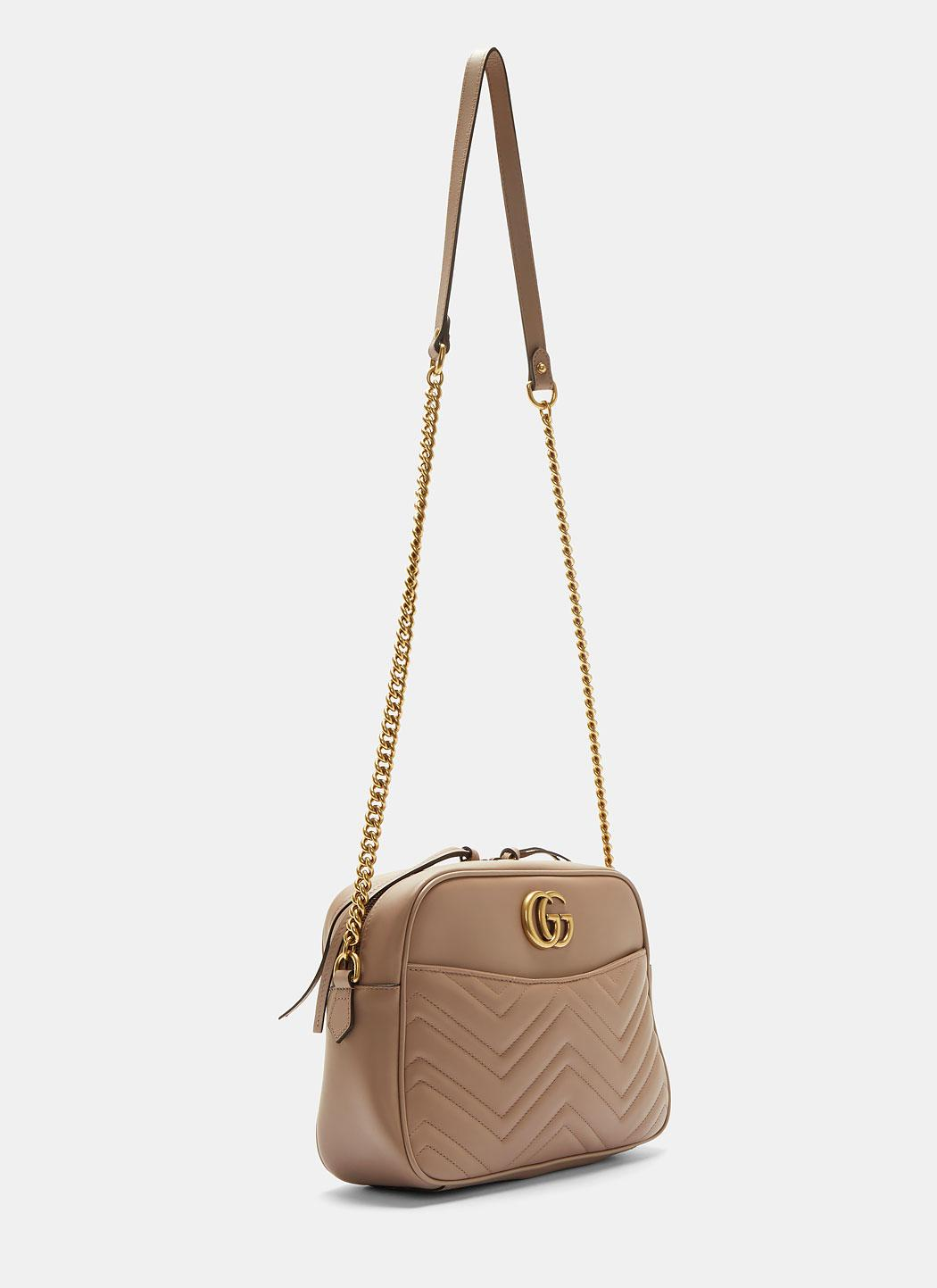 554e2aed3d60 Gucci Gg Marmont Matelassé Medium Shoulder Bag In Taupe in Natural ...
