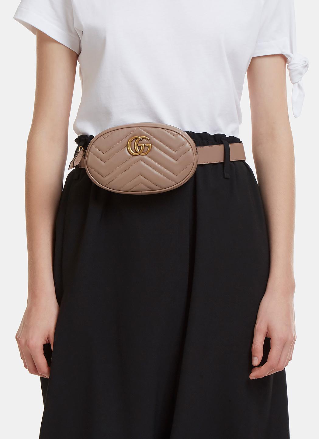 Lyst Gucci Gg Mini Belt Bag In Brown Alma Gallery