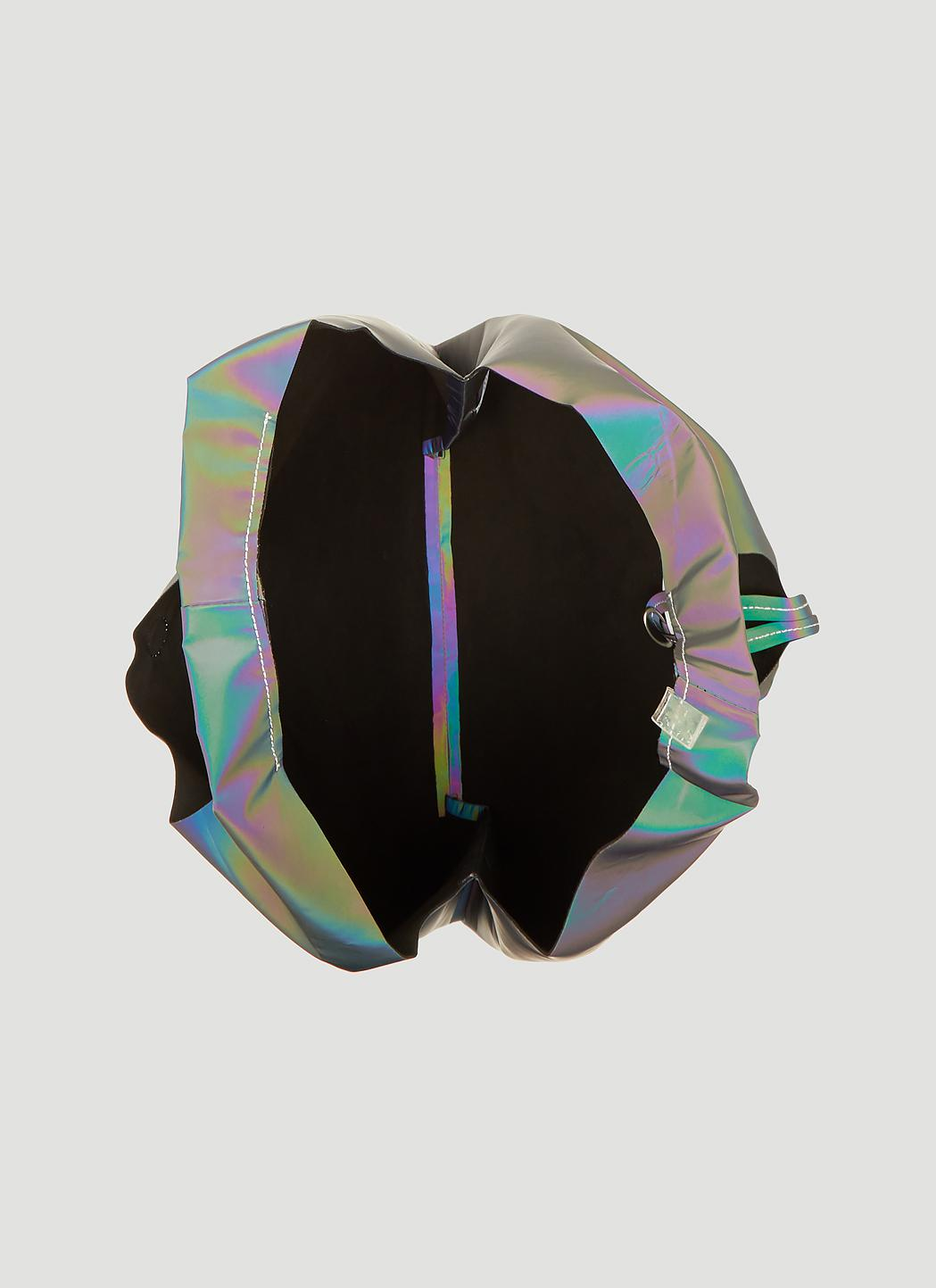 f3f99267919f Lyst - Maison Margiela Reflective Logo Plastic Bag Tote Bag In Black ...