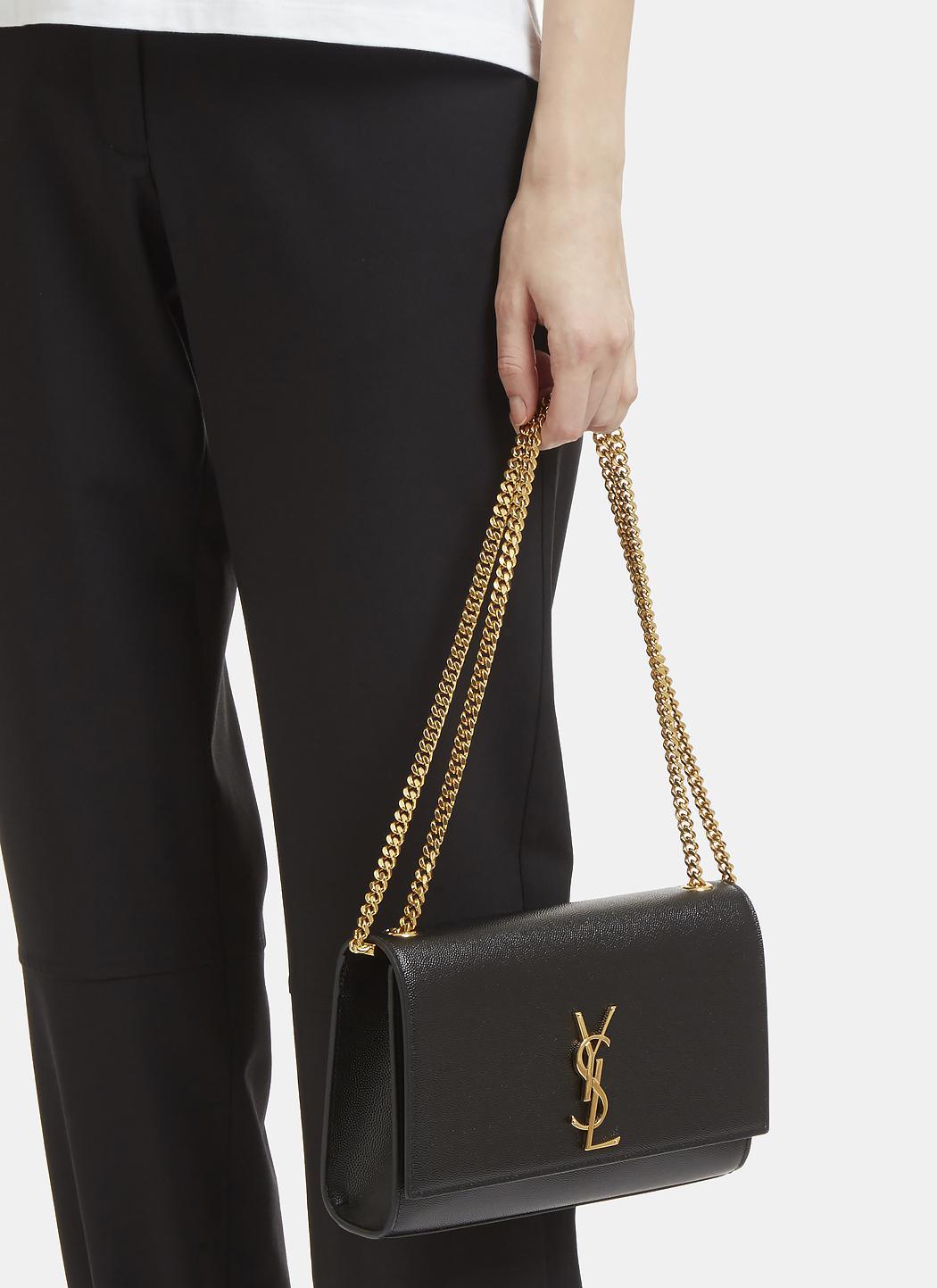 Saint Laurent Medium Kate Grain De Poudre Chain Bag In