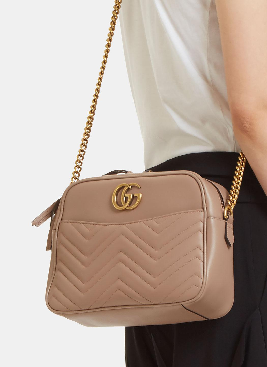 0e7568606 Gucci Gg Marmont Matelassé Medium Shoulder Bag In Taupe in Natural ...
