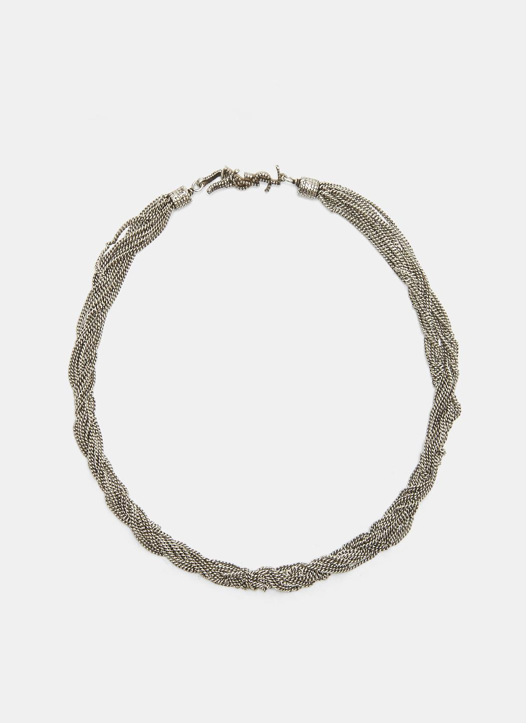 Saint Laurent LouLou twisted necklace - Metallic