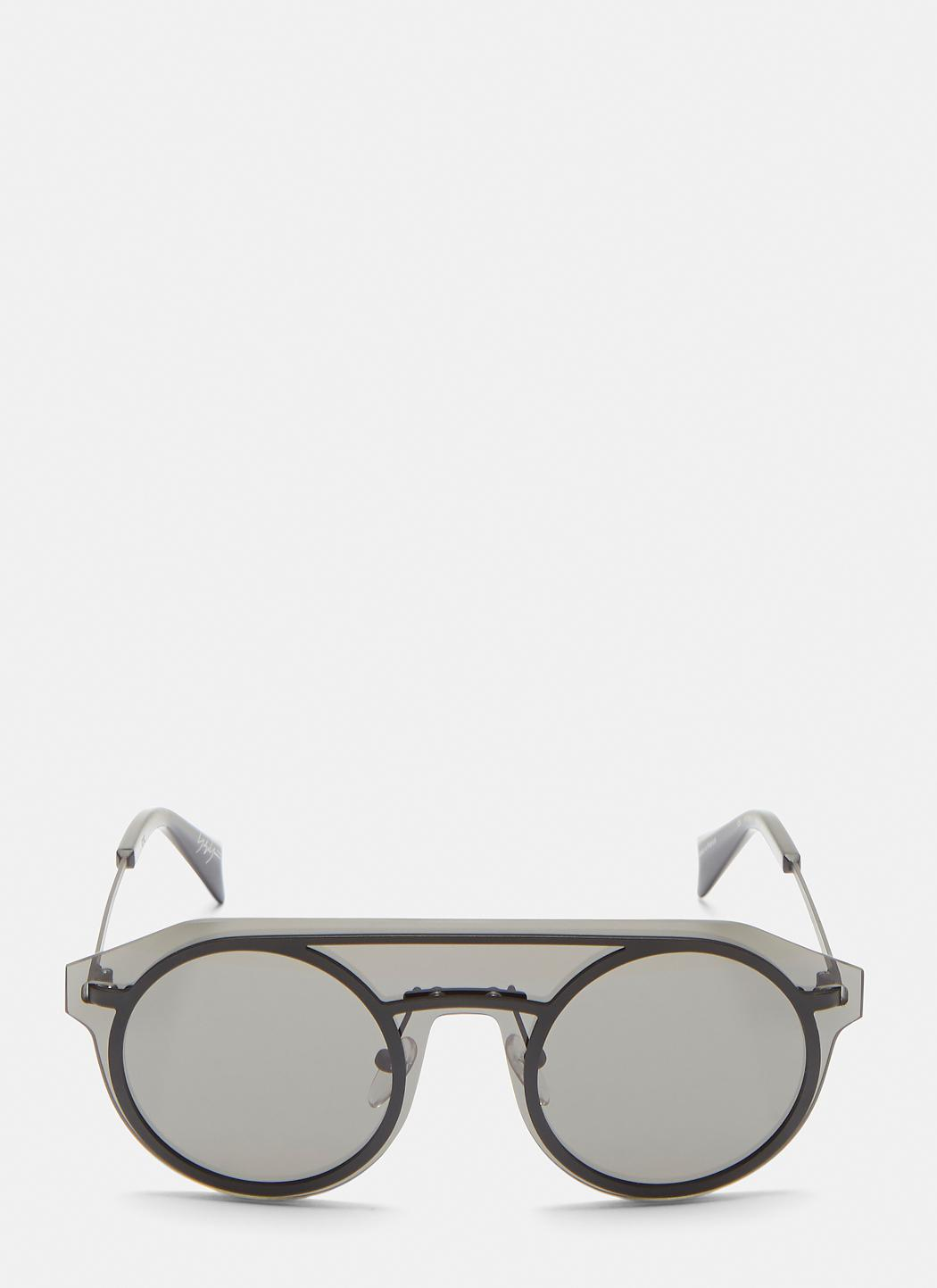 090580f3b34 Yohji Yamamoto Yy7013 Sheer Acetate Sunglasses In Black in Black for ...