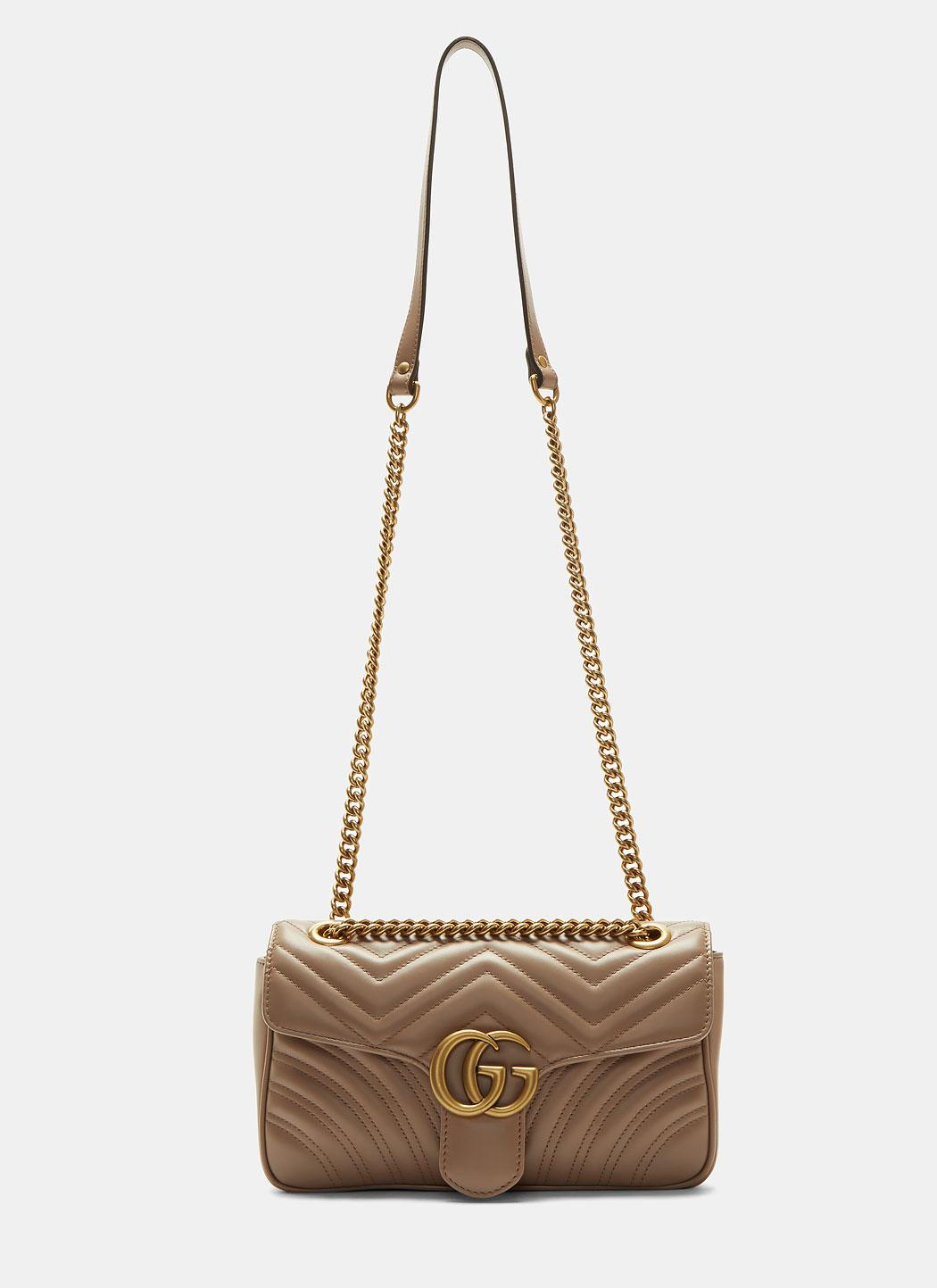 92709ffad648 Gucci Gg Marmont Matelassé Small Chain Shoulder Bag In Taupe in ...