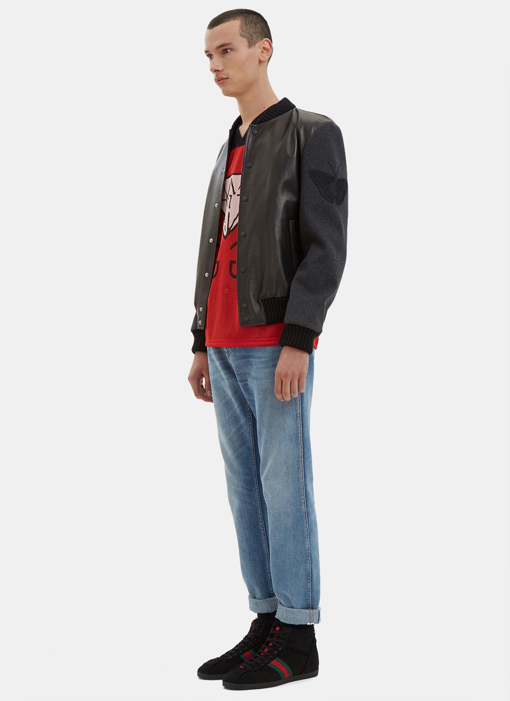 f40f3f7cf85 Lyst - Gucci Ghost-print Mesh T-shirt in Black for Men