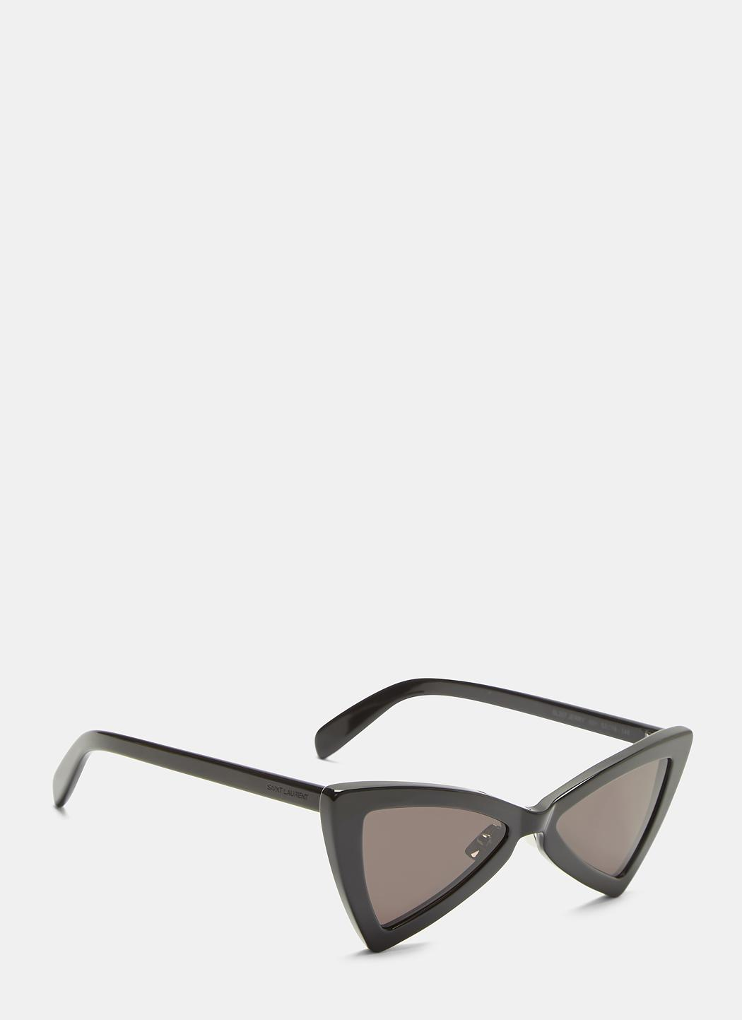 6fb30596d3 Saint Laurent New Wave 207 Jerry Triangular Sunglasses In Black in ...