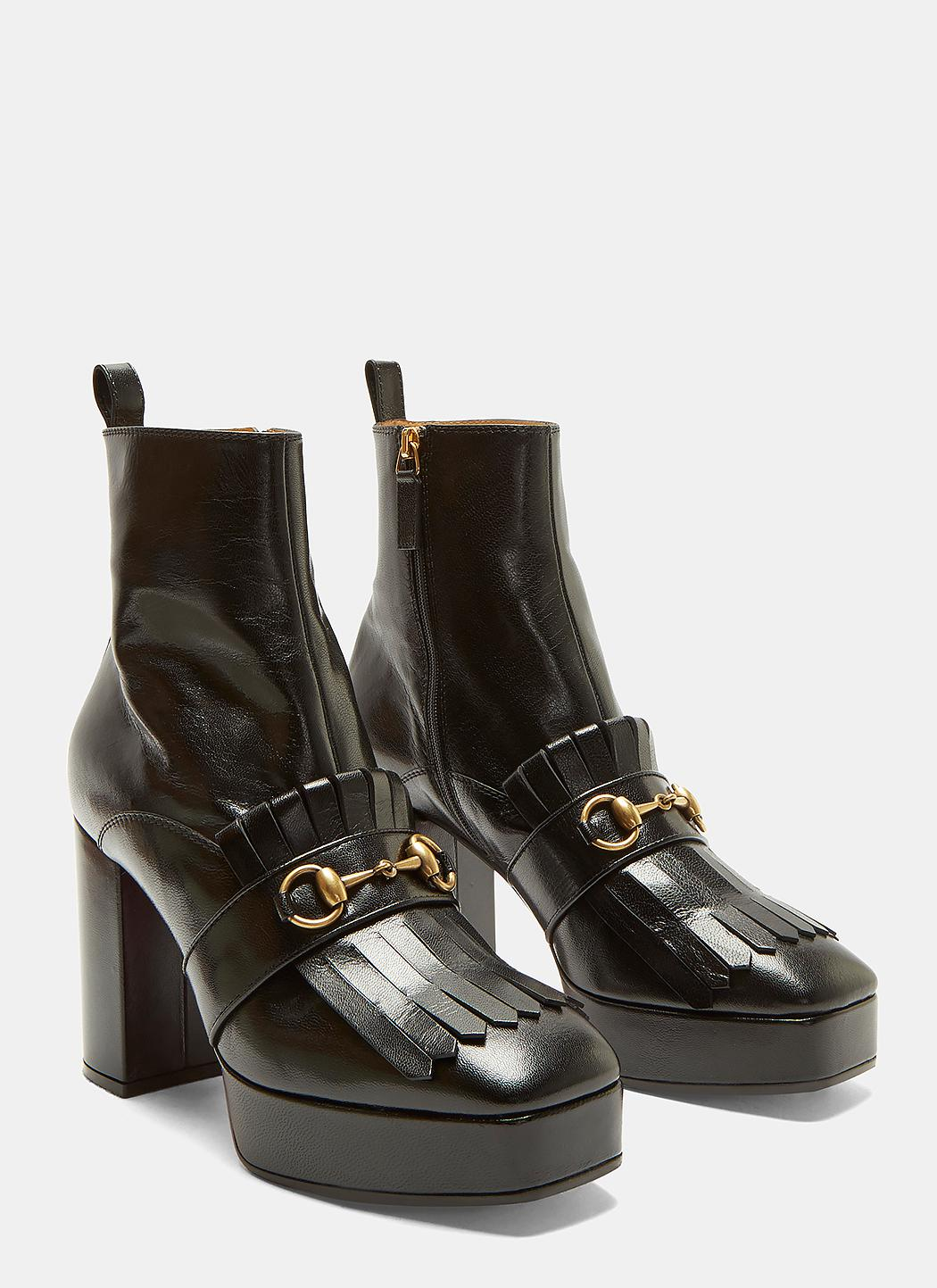 Gucci Fringed Horse Buckle Ankle Boots NIhCKv4De