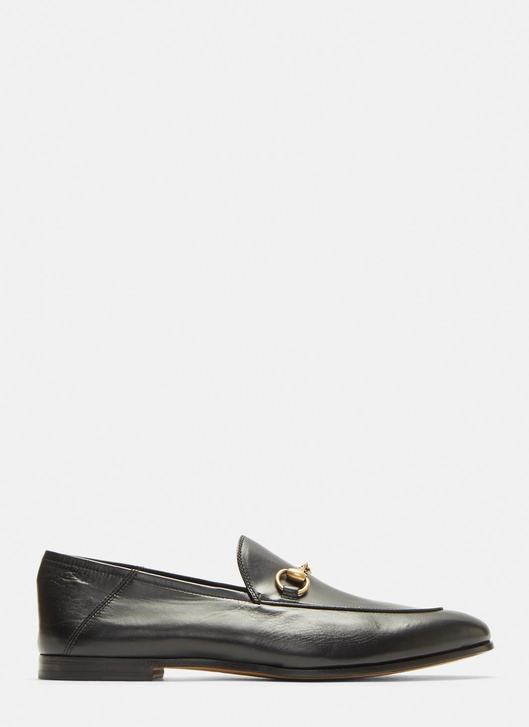 bed2634e684 Lyst - Gucci Brixton Leather Loafers In Black in Black for Men