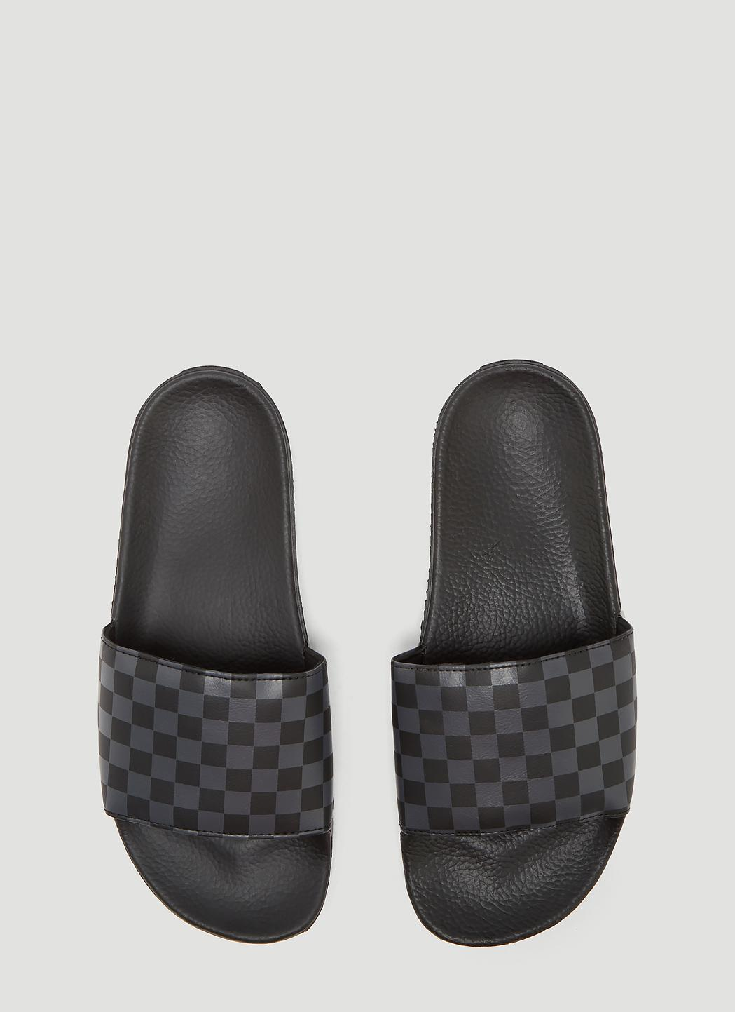 bc1cd9536b9 Lyst - Vans Checker Slides In Black in Black for Men - Save 47%