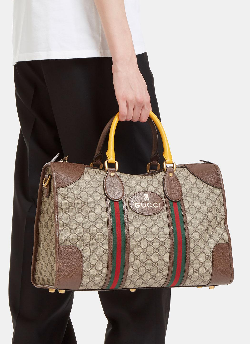 441f1d57279 Lyst - Gucci Men s Neo Vintage Gg Supreme Print Webbing Duffle Bag ...