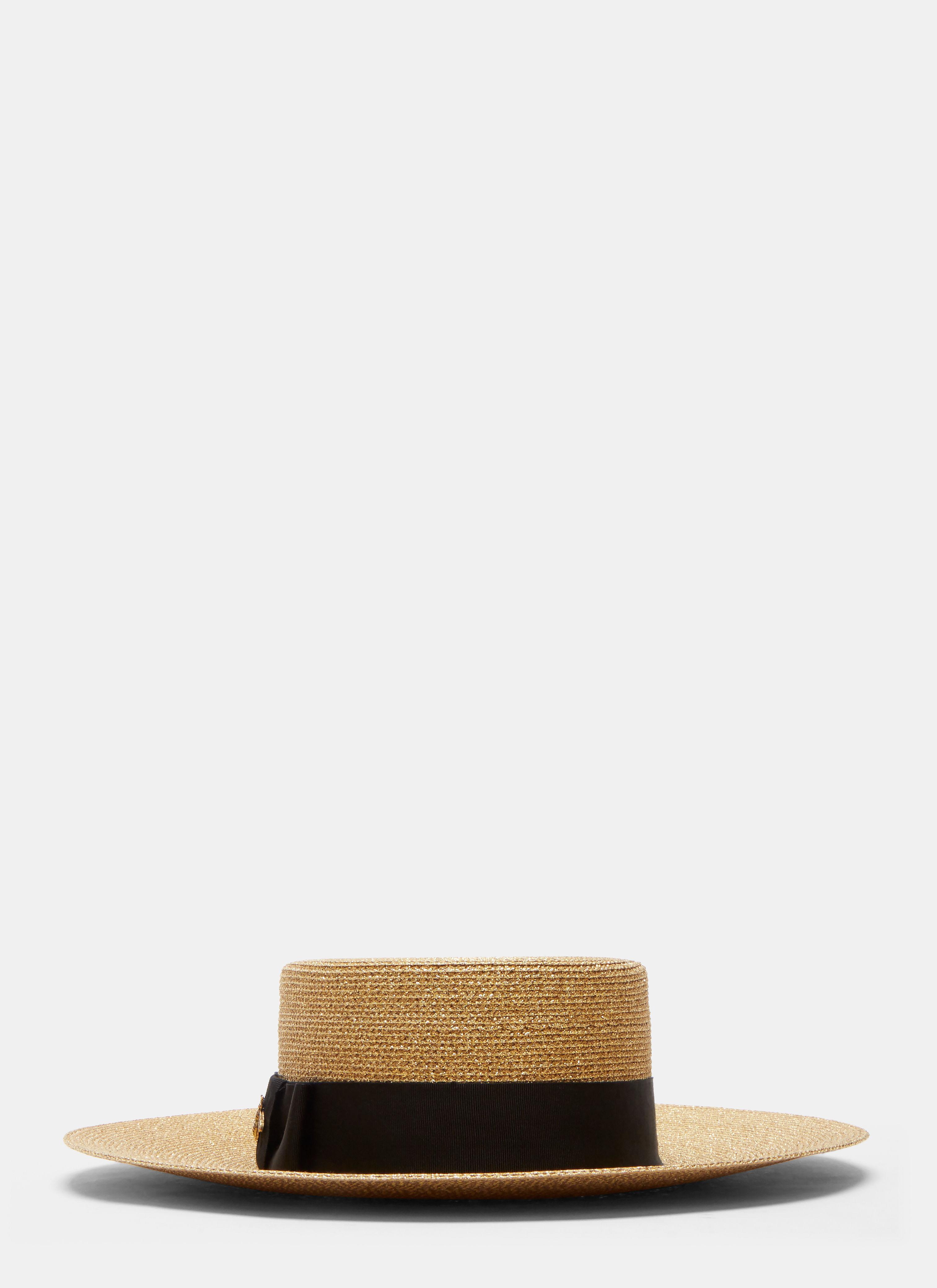 Gucci Women s Alba Lurex Papier Hat In Gold in Metallic - Lyst 3467e2d26f13