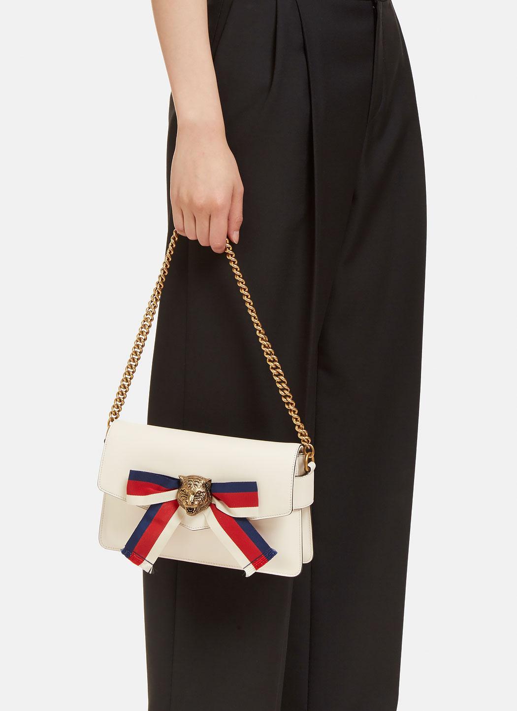 Lyst - Gucci Women s Broadway Tiger Clutch Bag In Ivory 2afc4b32a5fb5