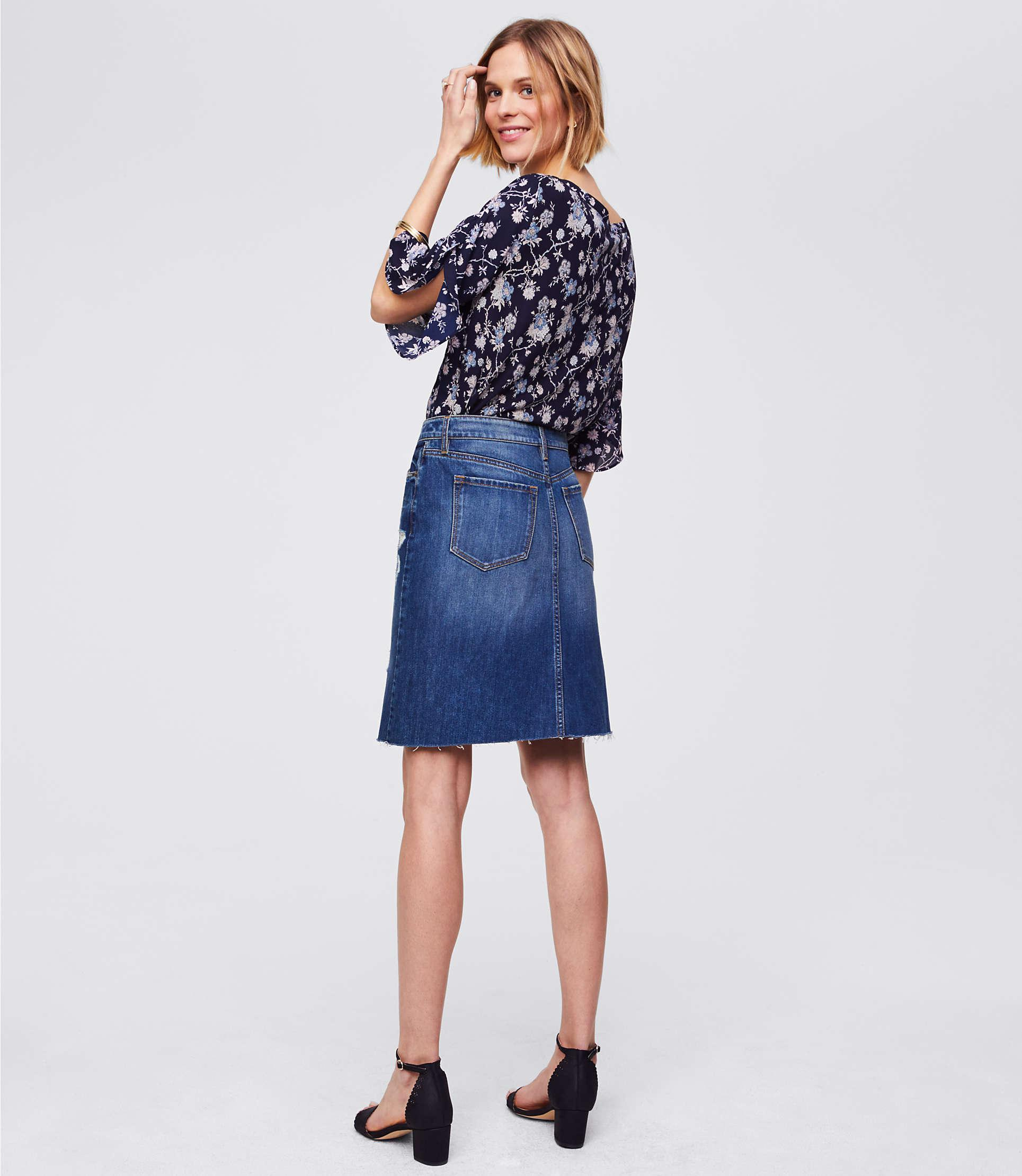 dbfe81307f Gallery. Previously sold at: LOFT · Women's Denim Skirts