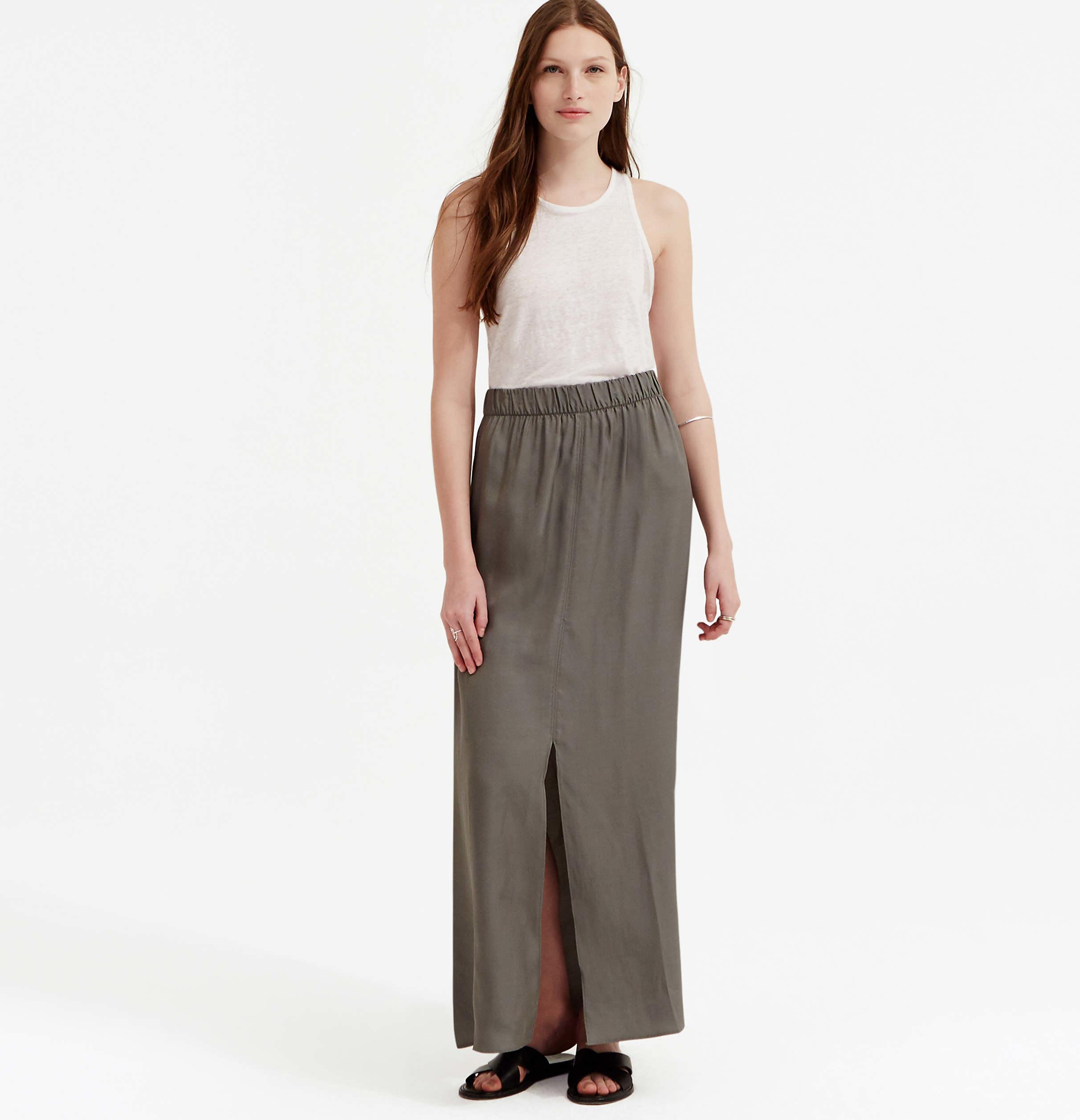 loft lou grey luster maxi skirt in multicolor lyst