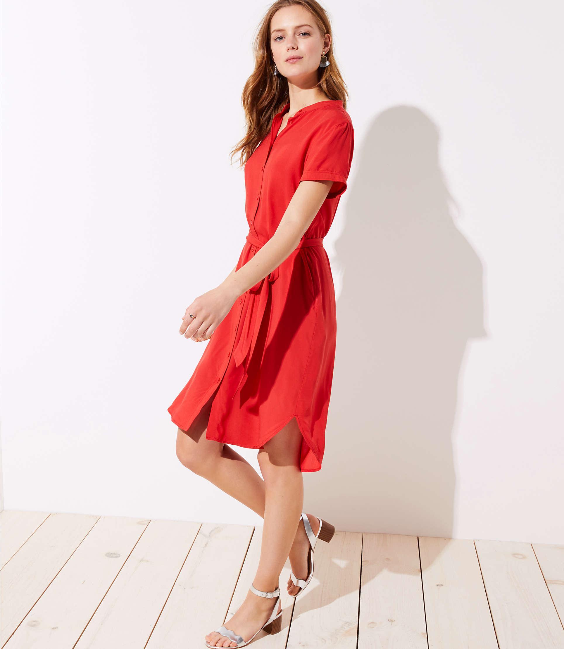 061d5b00cf5f Red Short Sleeve Shirt Dress - Barrier Surveillance