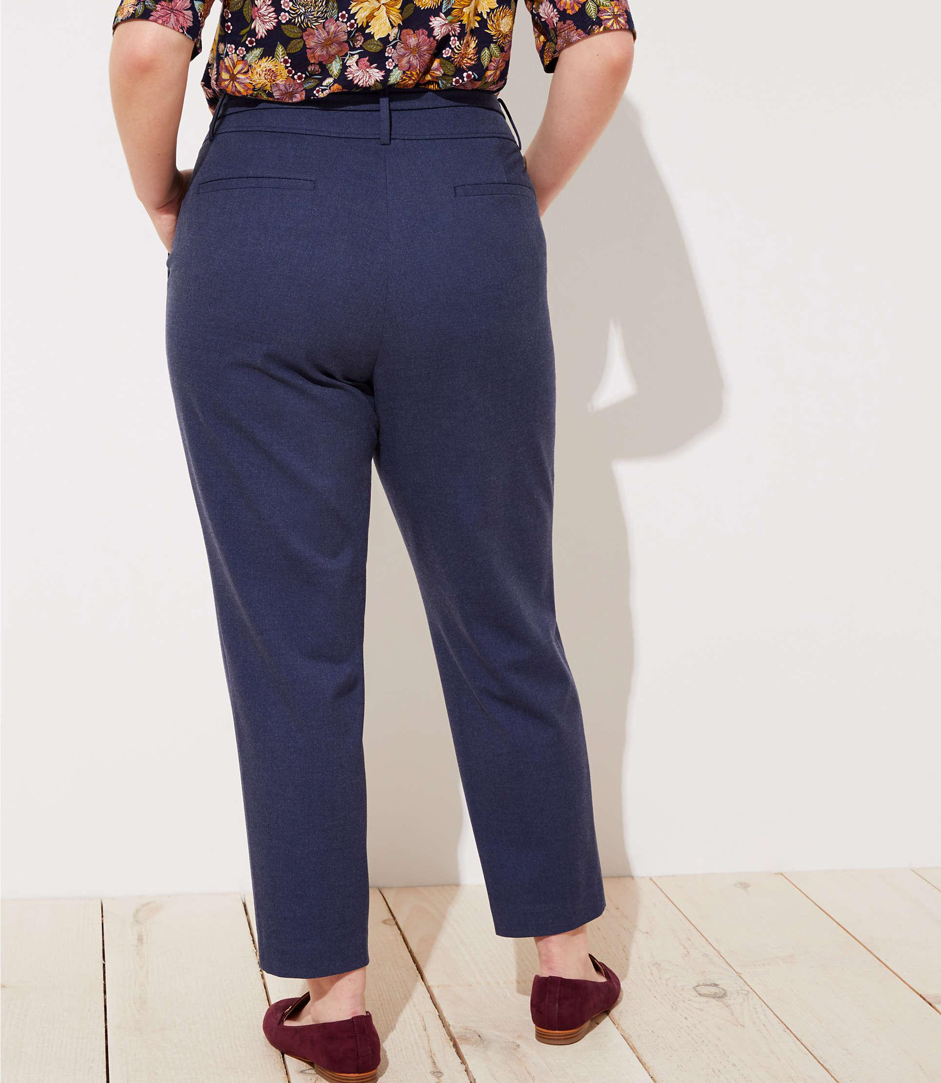 bbb985d139 LOFT - Blue Plus Slim Tie Waist Pencil Pants In Marisa Fit - Lyst. View  fullscreen