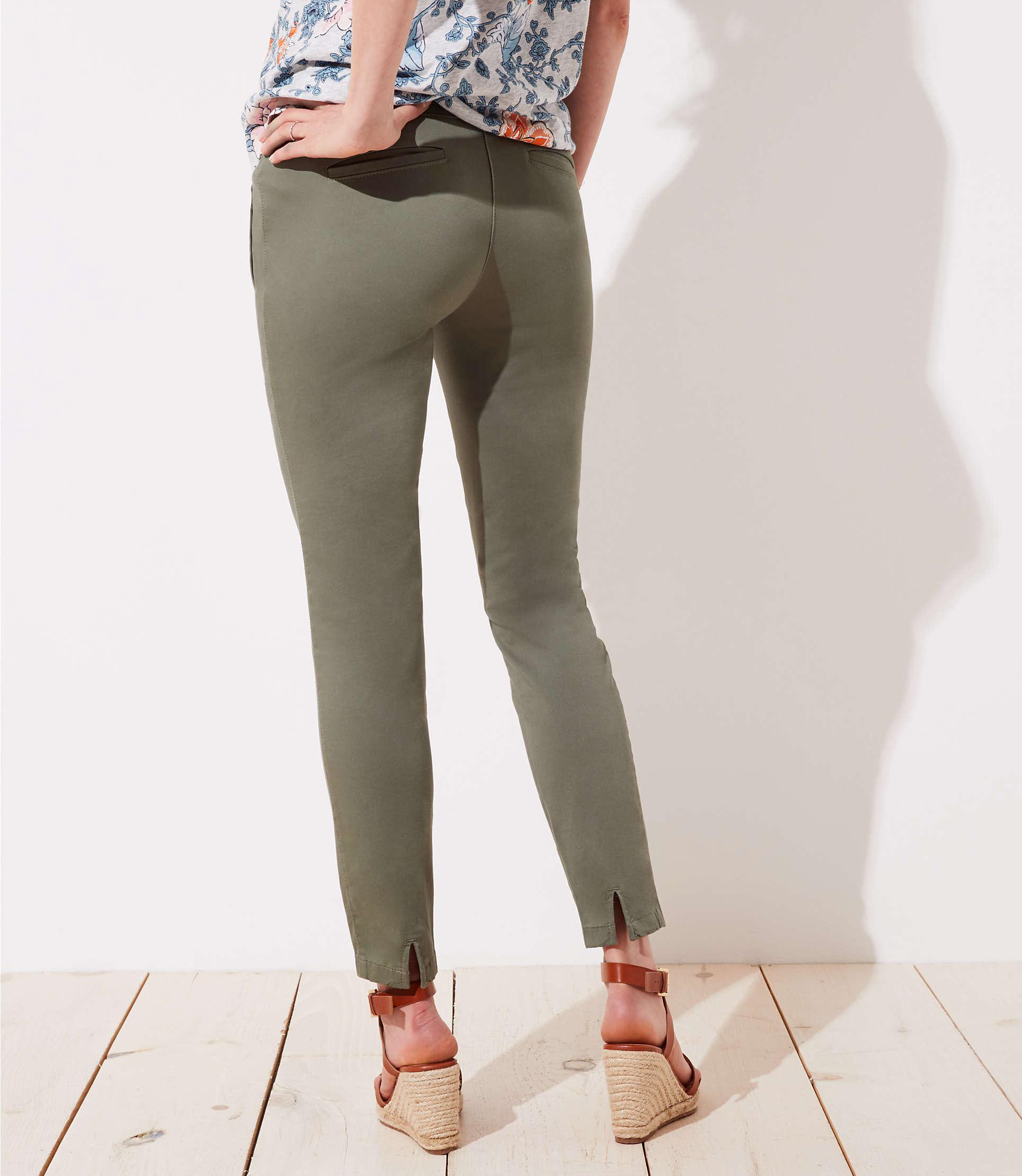 7af683f17140d LOFT - Multicolor Petite Maternity Skinny Zip Pocket Sateen Pants - Lyst.  View fullscreen