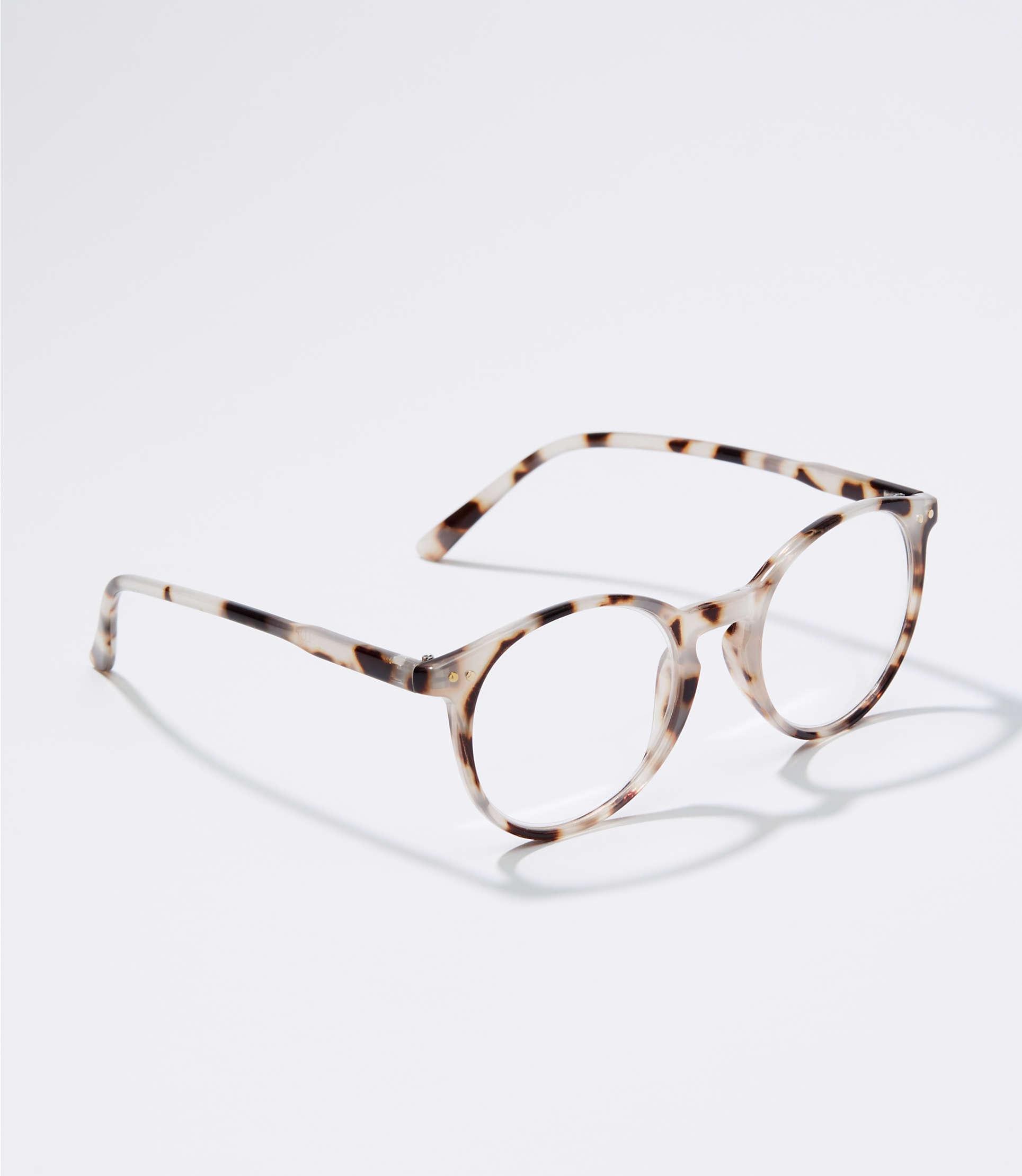 dd623119b3 LOFT. Women s Tortoiseshell Print Round Reading Glasses