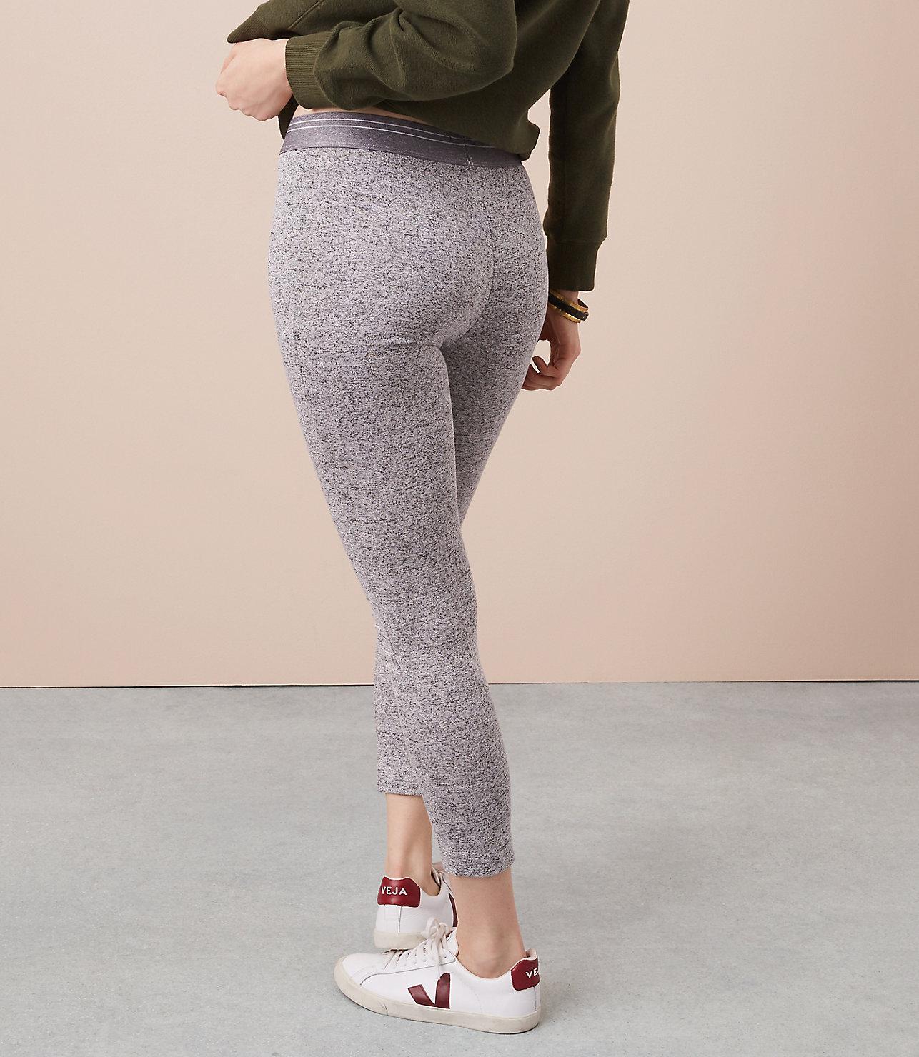 fc11265c61f39 Lyst - LOFT Lou & Grey Marled Essential Leggings in Gray