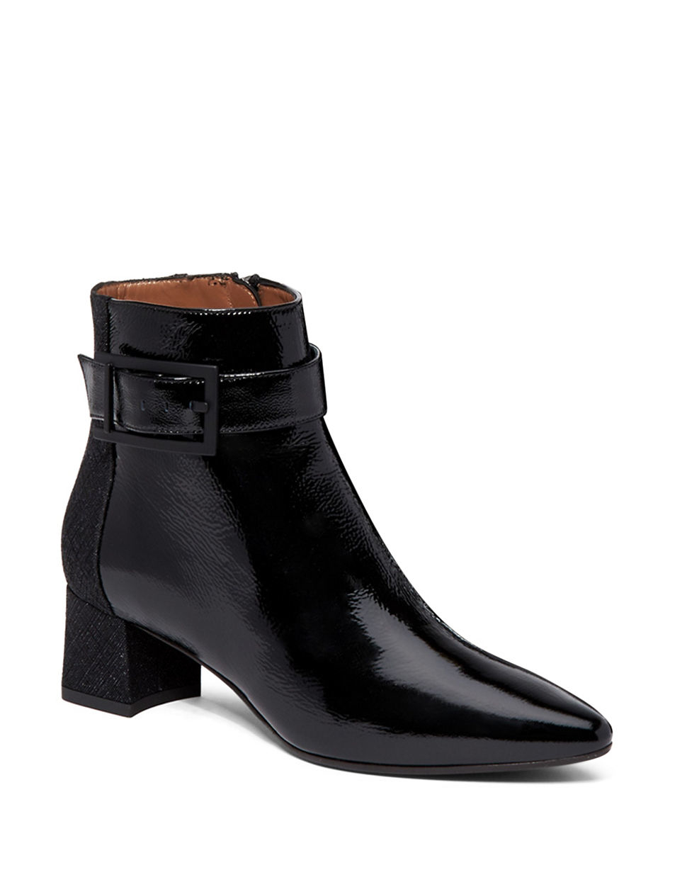 aquatalia phyliss naplak patent leather and suede boots in