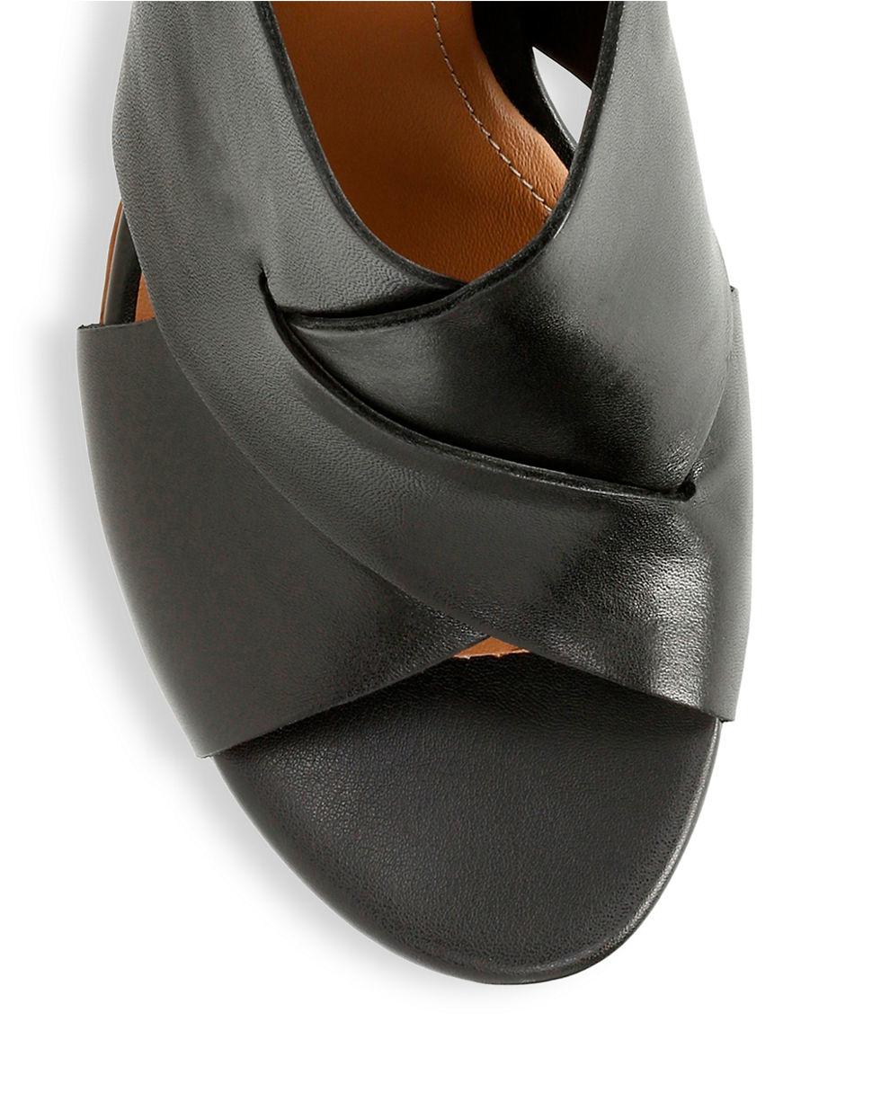 25a7d741779db Clarks Ralene Vive Full Grain Leather Slingback Sandals in Black - Lyst