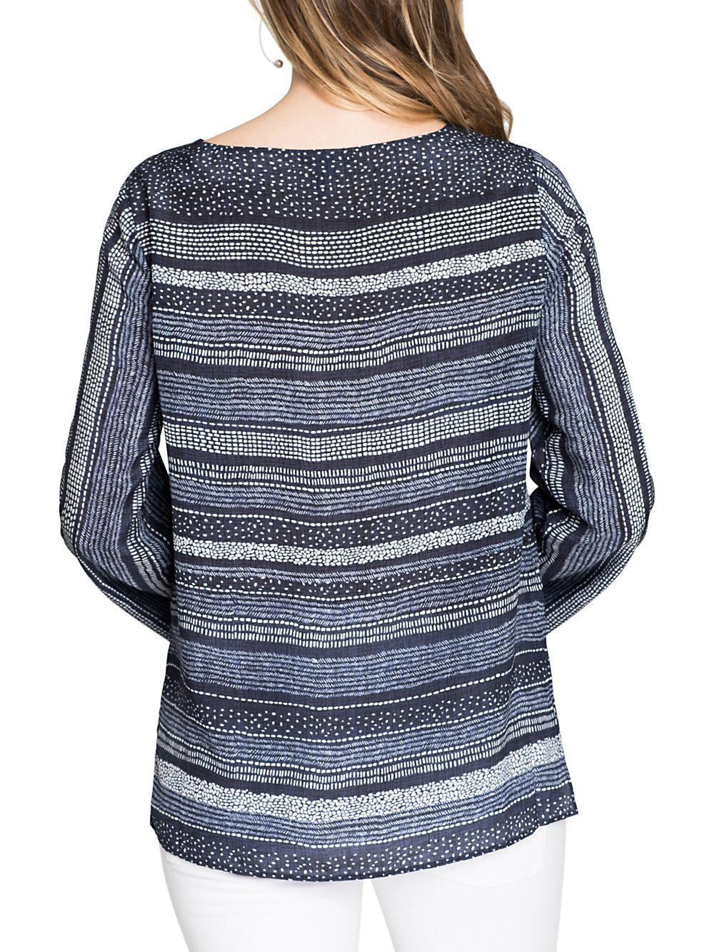 0cecf8d66c7 Lyst - Nic+Zoe Dotted Line Top in Blue