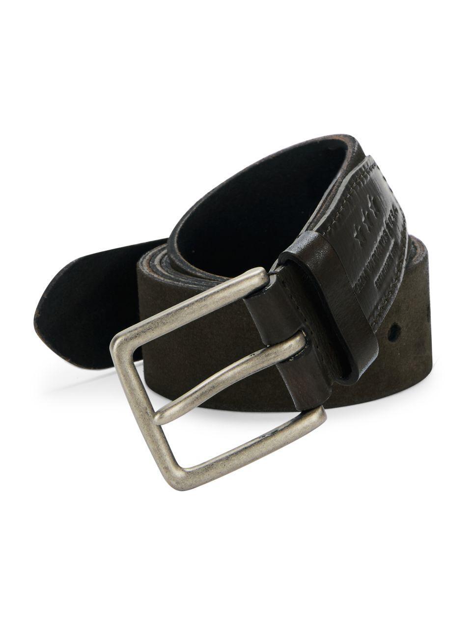 varvatos suede belt in brown for lyst