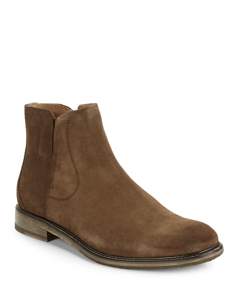 varvatos sid suede boots in brown for lyst