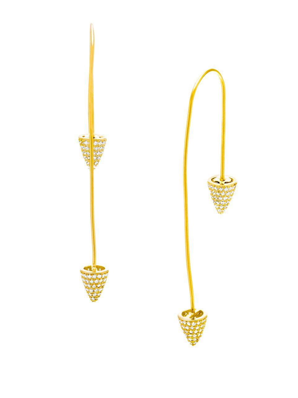 Lyst Lord Amp Taylor Cubic Zirconia Cone Ends Pull Through