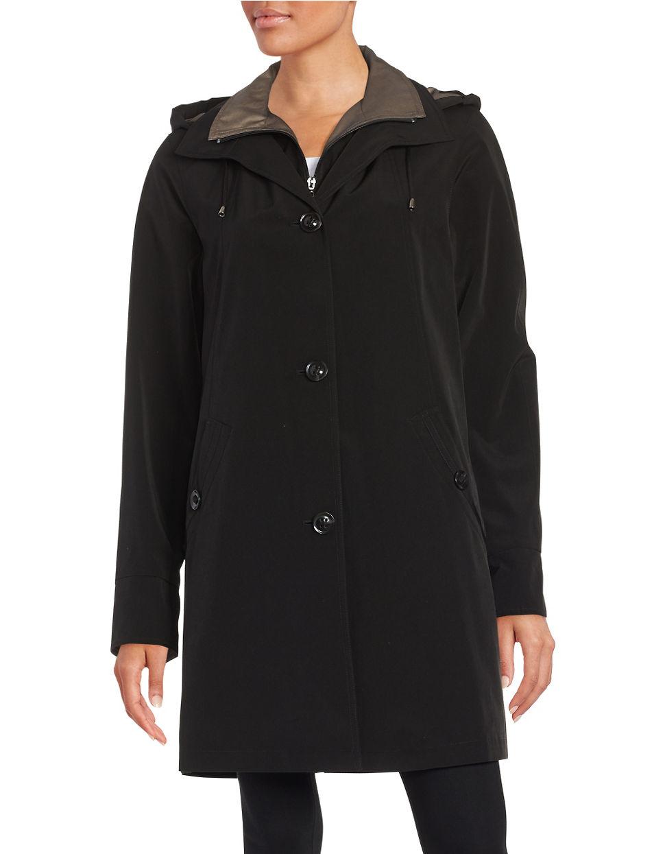 Gallery Petite Removable Hood Anorak Jacket In Black | Lyst