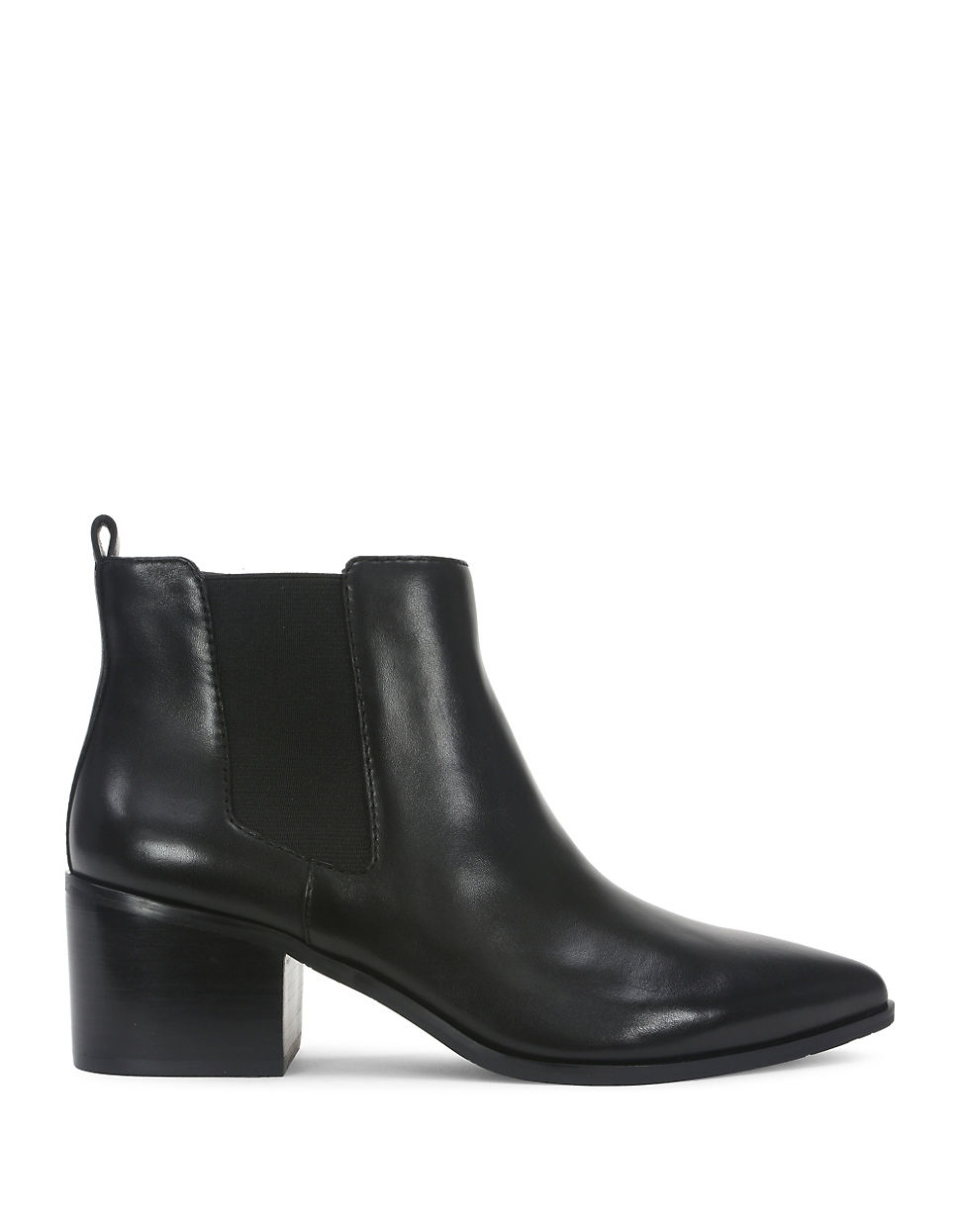 tahari ranch 2 point toe leather boots in black lyst