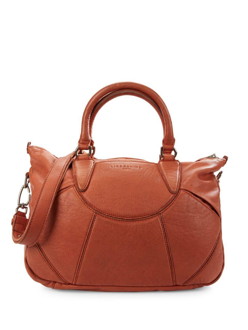 liebeskind berlin esther leather handbag in brown lyst. Black Bedroom Furniture Sets. Home Design Ideas