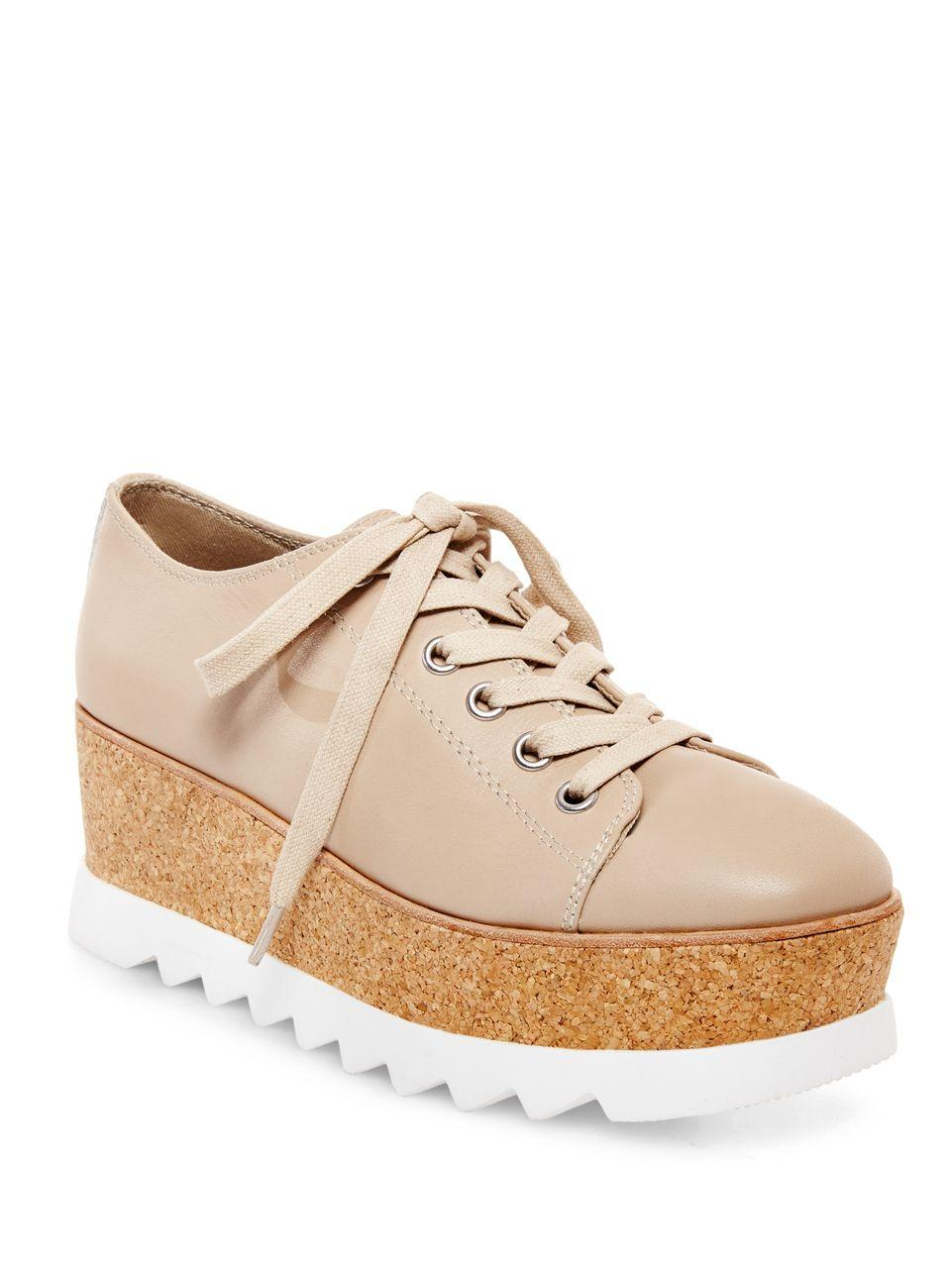 6240ba0877e Steve Madden Korrie Lace-up Flatform Sneakers in Natural - Lyst