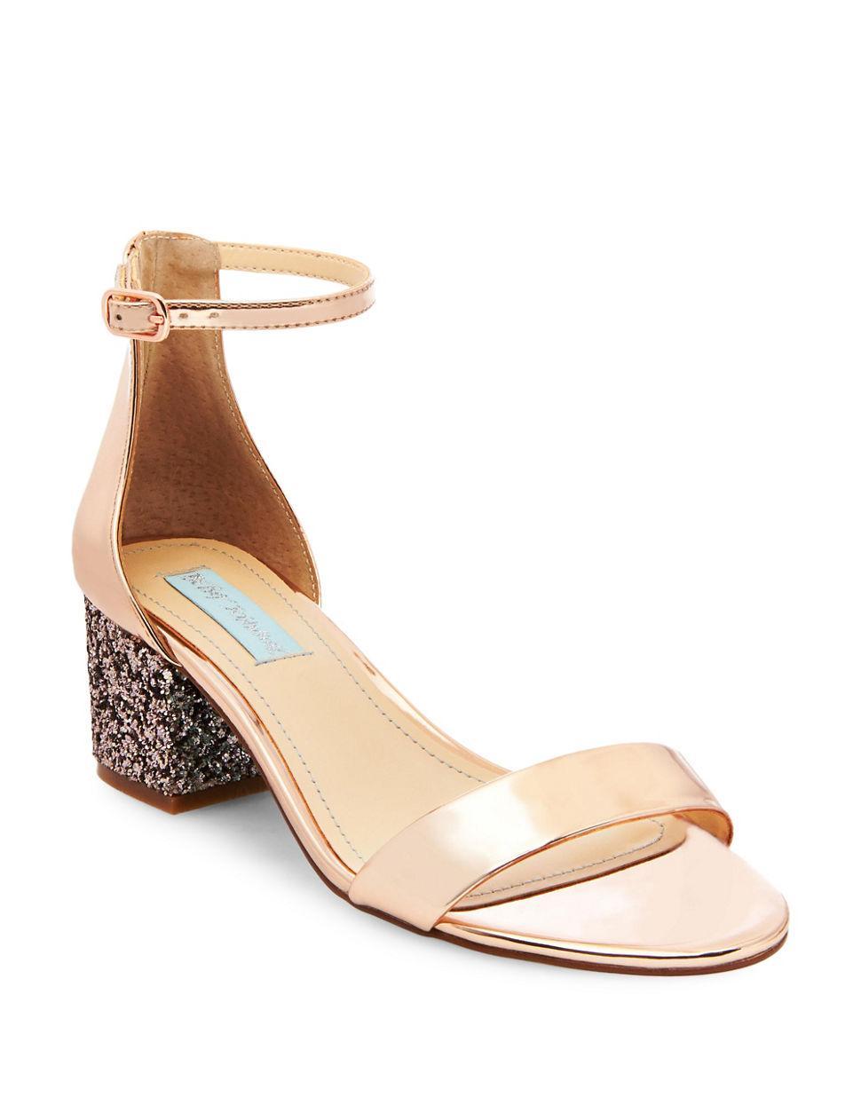 25e6ec28bef Lyst - Betsey Johnson Jayce Two-piece Dress Sandal in Pink