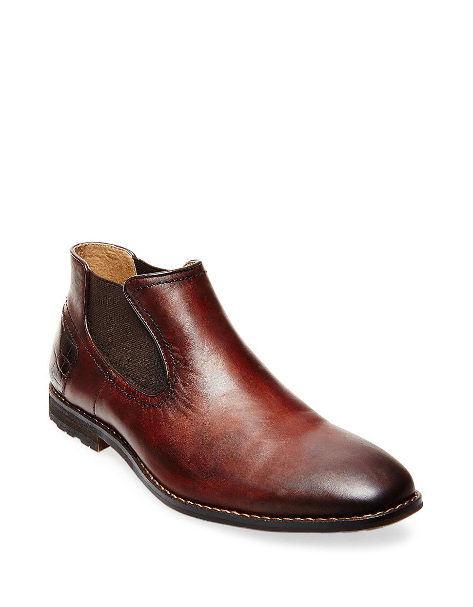 steve madden kelen leather chelsea boots in brown for men lyst. Black Bedroom Furniture Sets. Home Design Ideas
