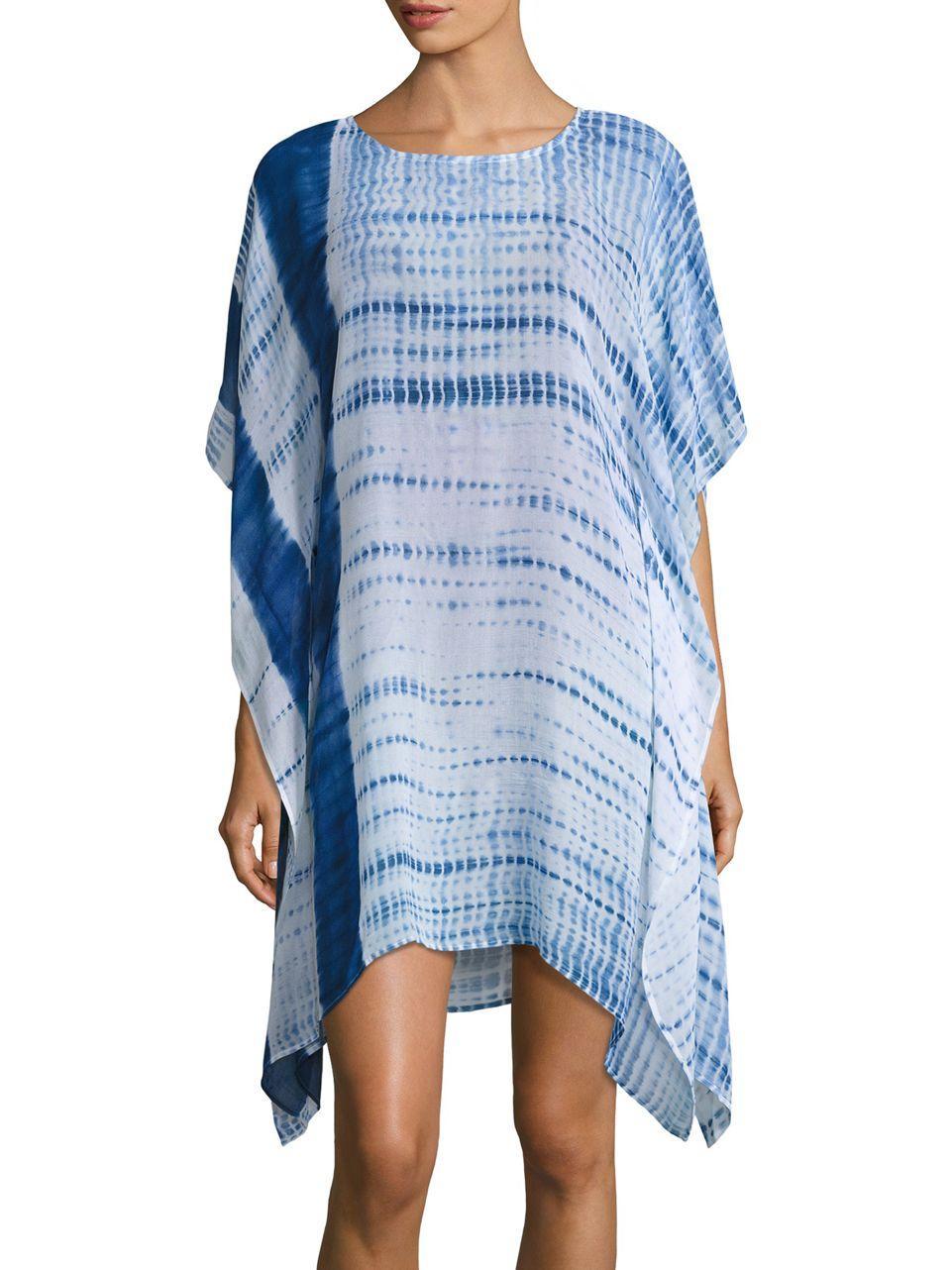 Amita naithani Tie-dye Cover-up Caftan in Blue | Lyst