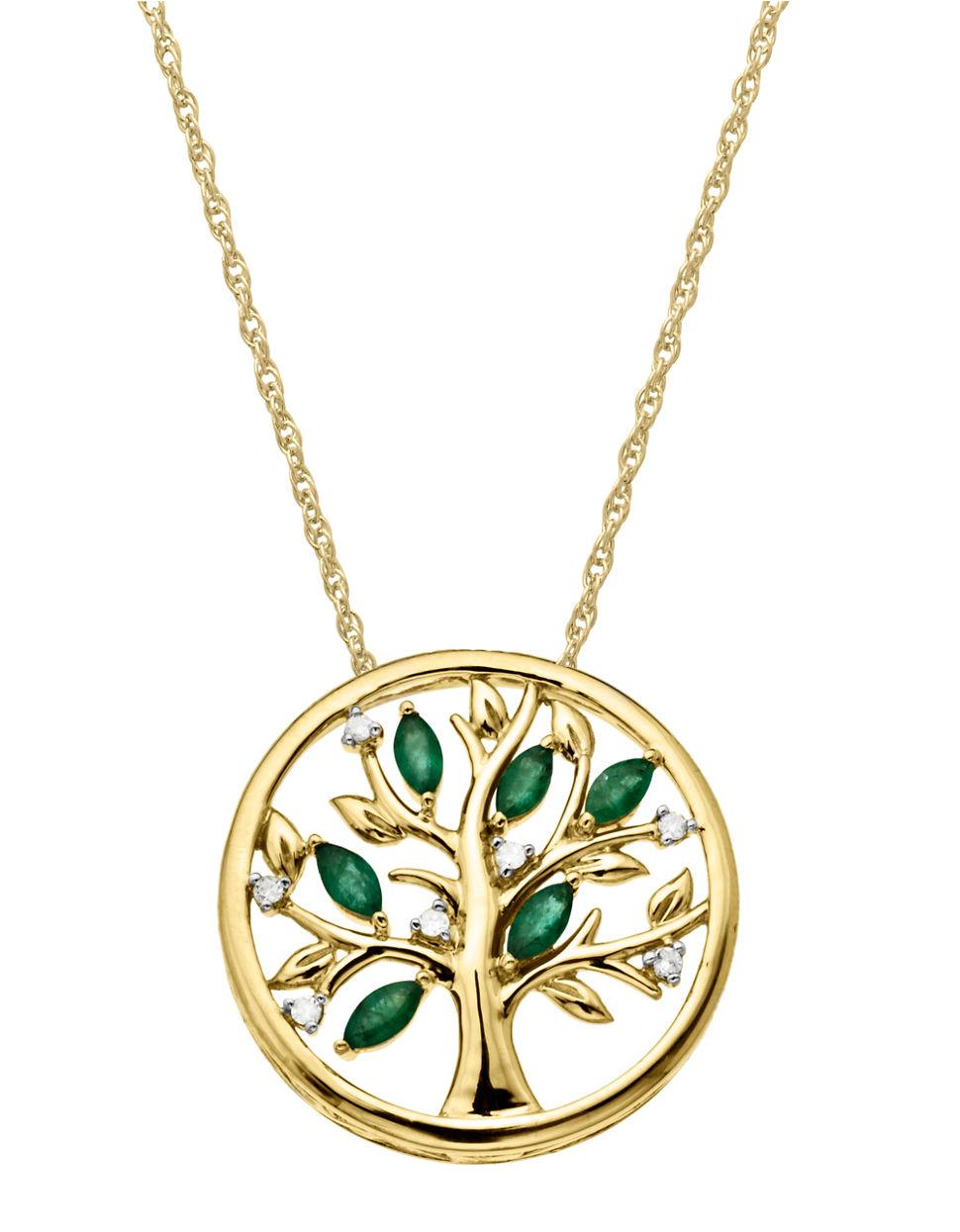 Lyst Lord Amp Taylor 14kt Yellow Gold Diamond And Emerald