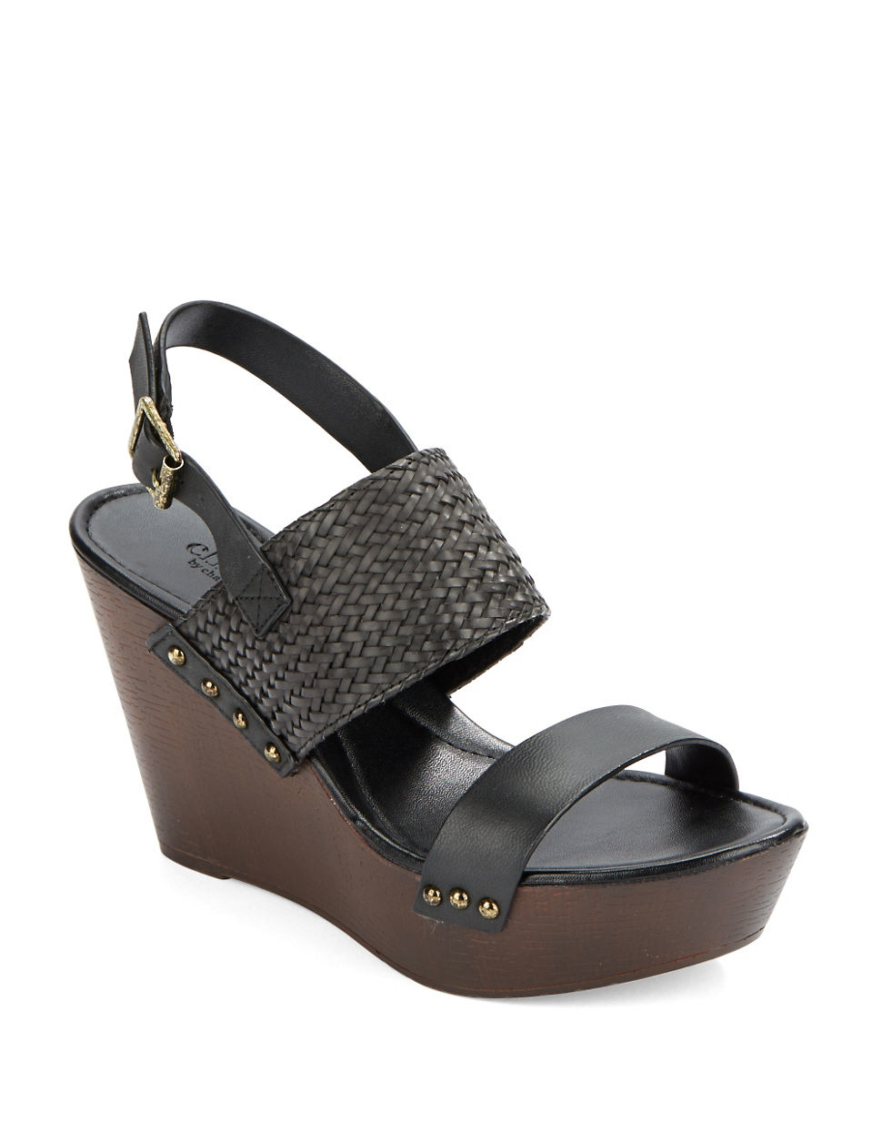 1d114dba27b Lyst - Charles By Charles David Isola Leather Platform Wedges in Black